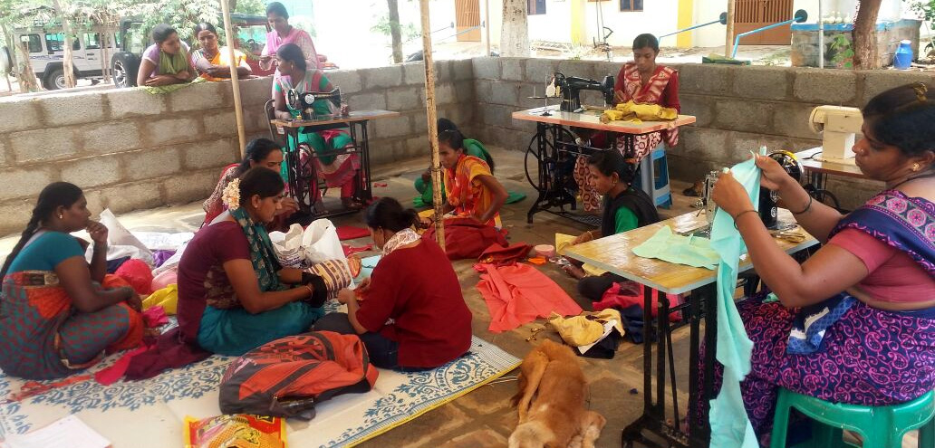 Flex Upcycling, Green Skilling Program, Bangalore rural