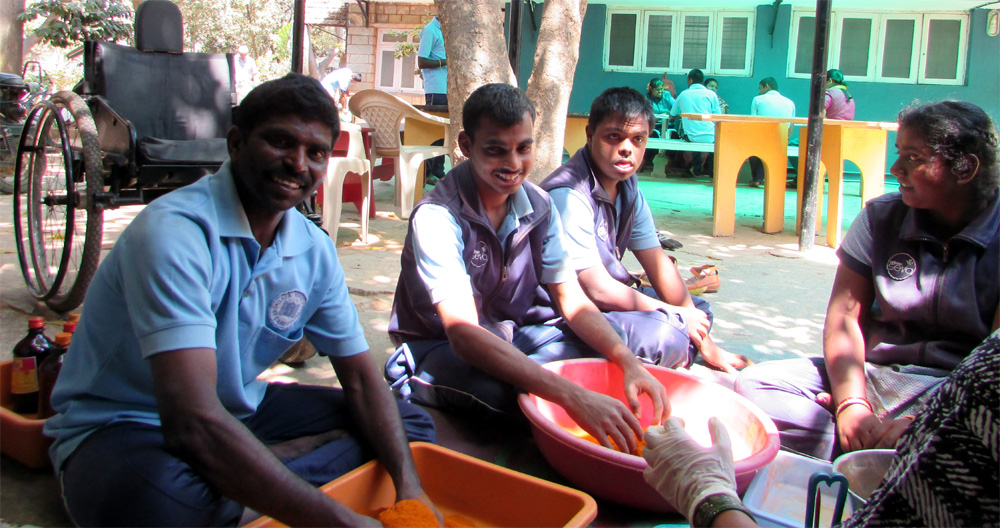 Working with the differently abled